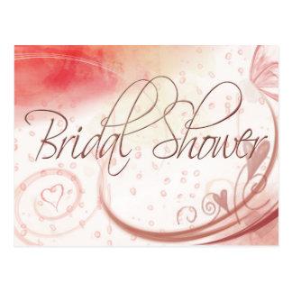 Postal nupcial en colores pastel suave de la ducha