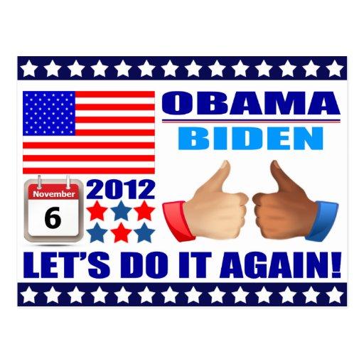 Postal: ¡Obama/Biden - calendario - la hace otra v Postal