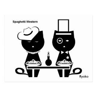 Postal occidental de espaguetis