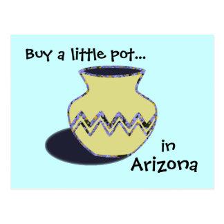 Postal occidental de la cerámica de Arizona de la