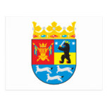 Postal occidental del escudo de armas de Finlandia