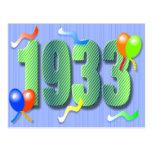 Postal octogésima 1933 del cumpleaños