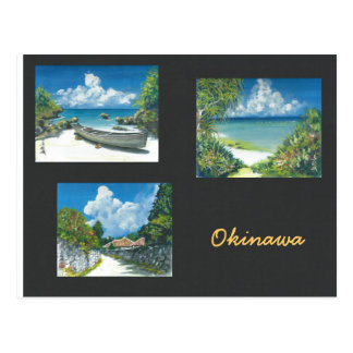 Postal Okinawa de la pintura