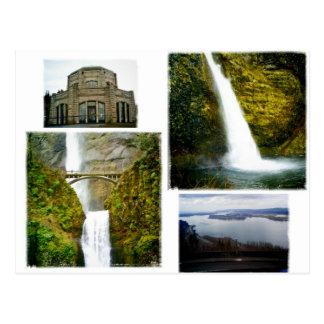 Postal Oregon de la garganta del río Columbia
