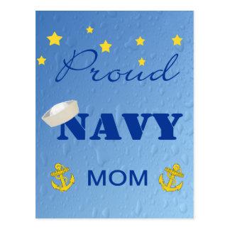 Postal orgullosa de la mamá de la marina de guerra