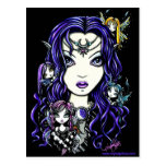 Postal oscura de la diosa del Faery de la reina Fa