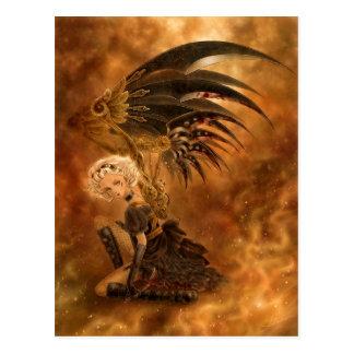 Postal oscura del ángel de Steampunk