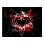 Postal oscura del corazón