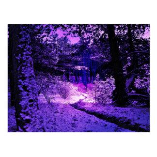 Postal oscura y calamitosa púrpura