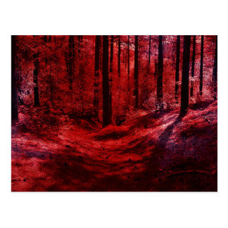 Postal oscura y calamitosa roja