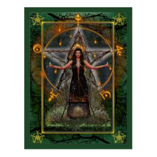 Postal pagana - ~ Earth del verde de la bruja de S