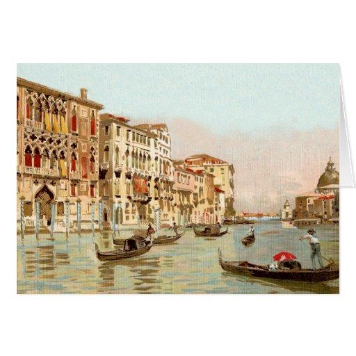 Postal Palazzo Franchetti, Venezia del vintage Tarjeta