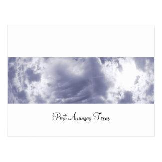 Postal (panorámica) de las nubes de Aransas del pu