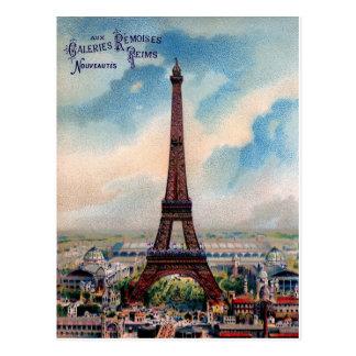 Postal París de la torre Eiffel del vintage