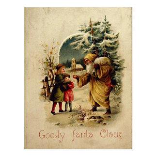 Postal pasada de moda de Santa