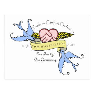 Postal - pastel del diseño del aniversario del SCC