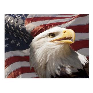 Postal patriótica de Eagle