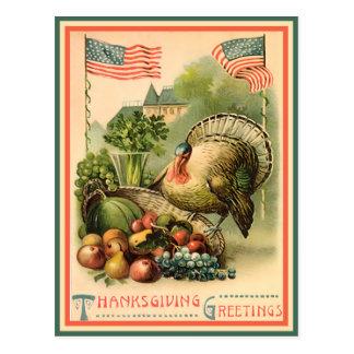 Postal patriótica de la acción de gracias