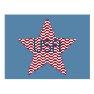Postal patriótica de la estrella