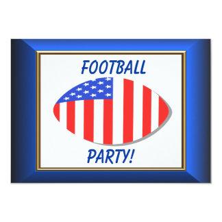 Postal patriótica de la invitación del fútbol