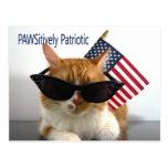 Postal patriótica del gato de PAWSitively