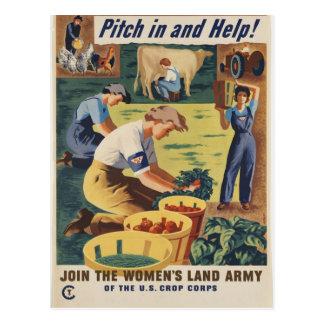 Postal patriótica del poster de WWII