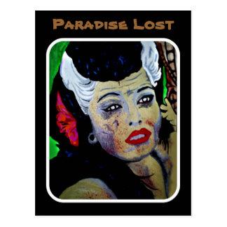 """Postal perdida """"paraíso"""" del zombi de Tiki"""