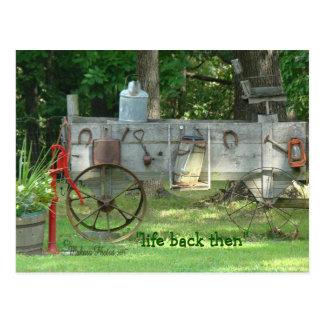 Postal-personalizar antiguo del carro y de las
