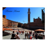 Postal: Piazza del Campo, Siena, Italia
