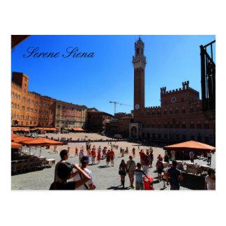 Postal: Piazza del Campo, Siena, Italia Tarjetas Postales