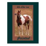 Postal pintada #1 del caballo