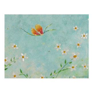 postal pintada de la mariposa