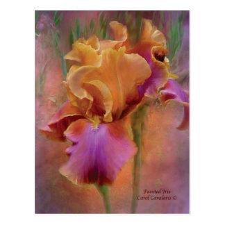 Postal pintada del arte del iris