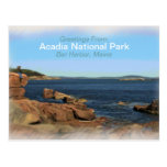 Postal pintada del recuerdo del parque nacional de