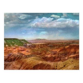 Postal pintada del vintage del desierto