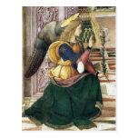 Postal Pinturicchio del navidad del ángel del rena