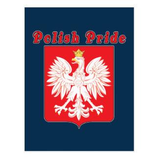 Postal polaca de Eagle del orgullo