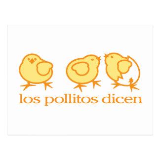 Postal por Los Pollitos Dicen