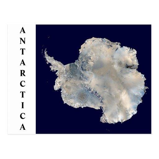 Postal por satélite de la imagen de la Antártida