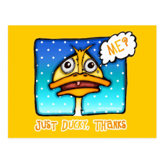Postal postales - apenas gracias DUCKY