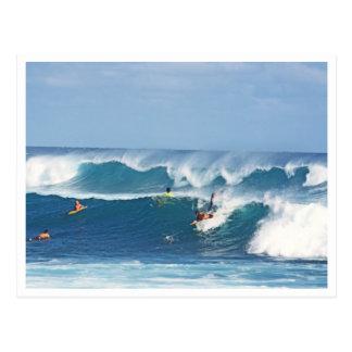 "POSTAL, ""PRACTICANDO SURF EN KAUAI "" POSTALES"