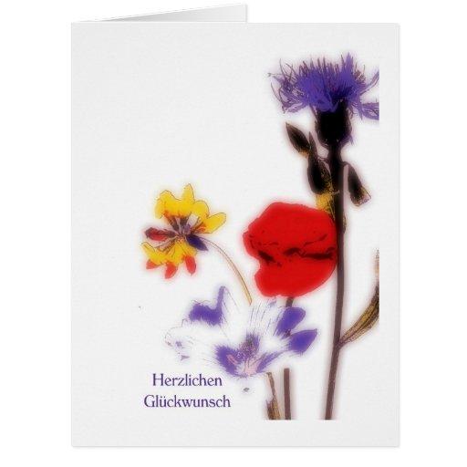 Postal prado flores Multicolores especie de pop Tarjeta De Felicitación Grande
