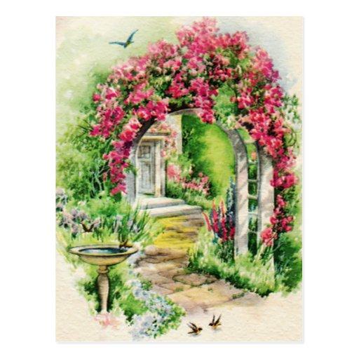 Postal preciosa del jardín