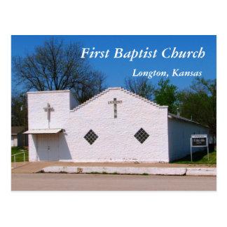 Postal: Primera iglesia baptista, Longton, Kansas Postal