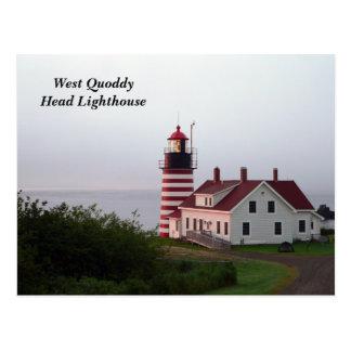 Postal principal del oeste del faro de Quoddy