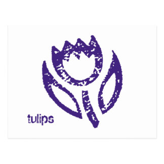Postal profunda del tulipán azul de los tulipanes