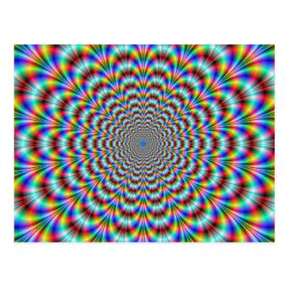 Postal psicodélica del doblador del ojo