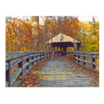 """postal, """"puente cubierto en el coto de Wildwood """""""