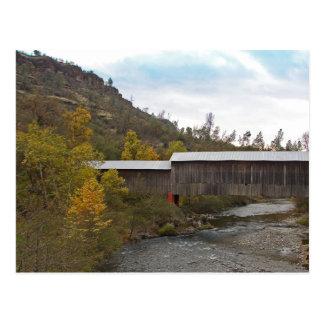 POSTAL - puente cubierto funcionado con miel
