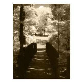 Postal - puente de la plantación de Mount Vernon t